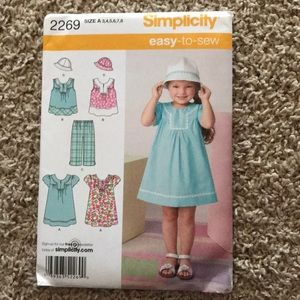 Other - Set of 4 Size A Cute Little Girl Sewing Pattern